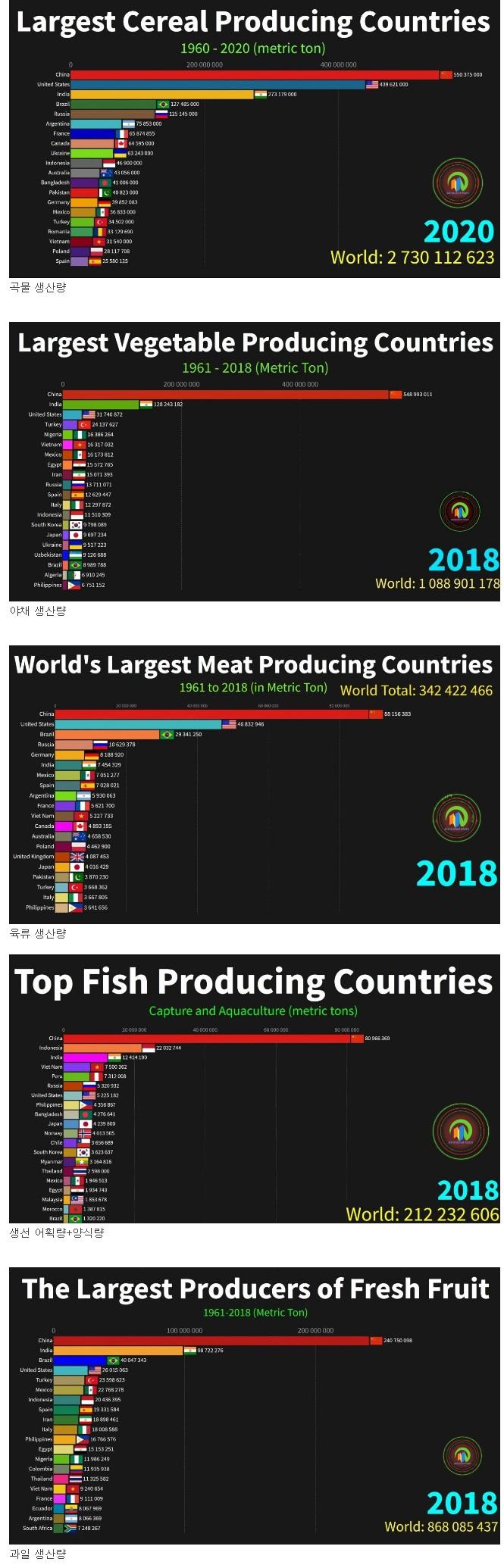 전 세계 식량 생산량
